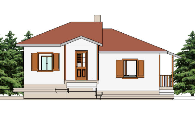 Maker montažna kuća Afrodita - izgled 1