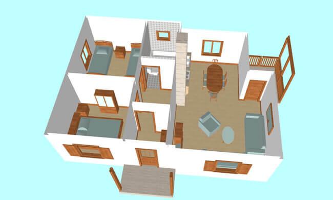 Maker montažna kuća Afrodita - presek