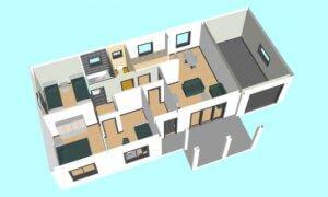 Maker montažna kuća Agata - presek