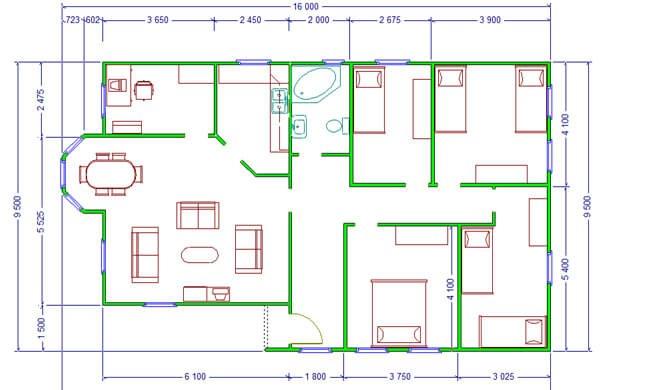 Maker montažna kuća Altina- osnova