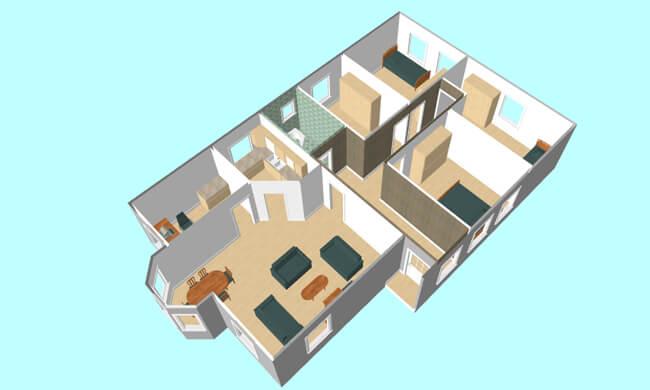 Maker montažna kuća Altina- presek