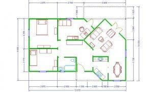 Maker montažna kuća Ana - osnova