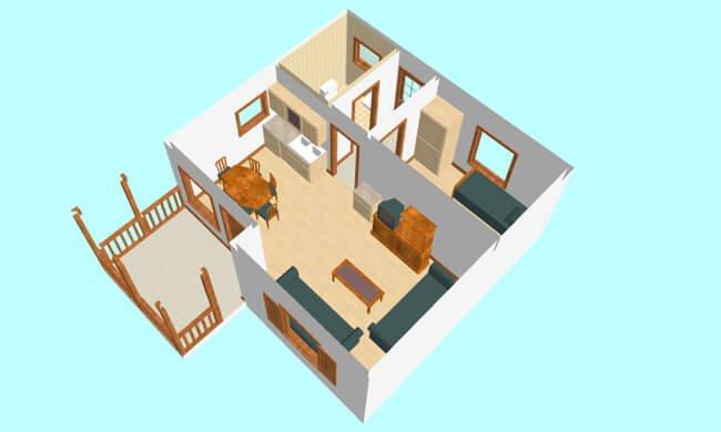 Maker montažna kuća Andrea - presek