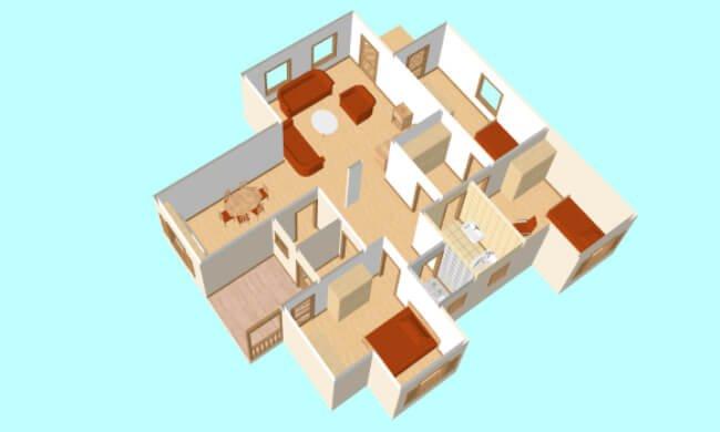 Maker montažna kuća Anita - presek