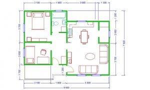Maker montažna kuća Atina - osnova