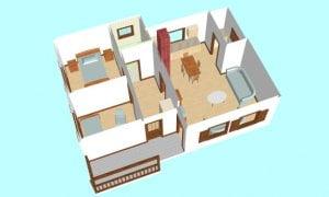 Maker montažna kuća Atina - presek