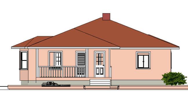 Maker montažna kuća Beka - izgled 1