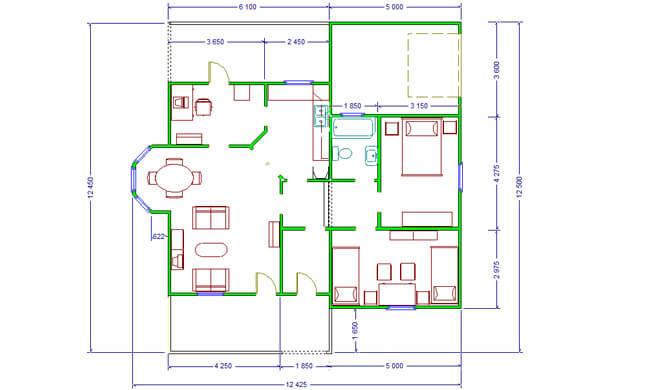Maker montažna kuća Beka - osnova