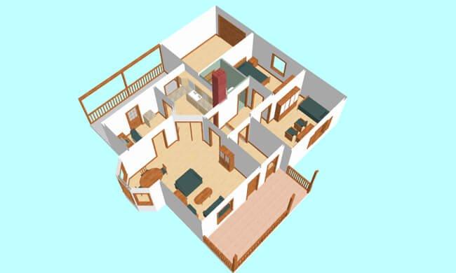 Maker montažna kuća Beka - presek