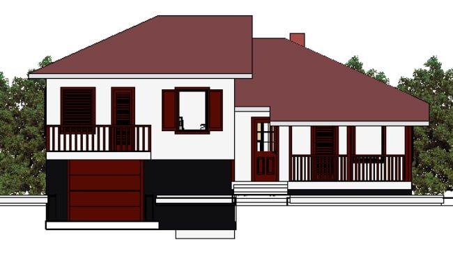 Maker montažna kuća Dajana - izgled 1