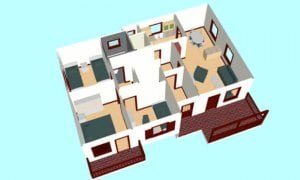 Maker montažna kuća Dajana - presek