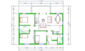 Maker montažna kuća Darija - osnova