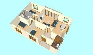 Maker montažna kuća Darija - presek