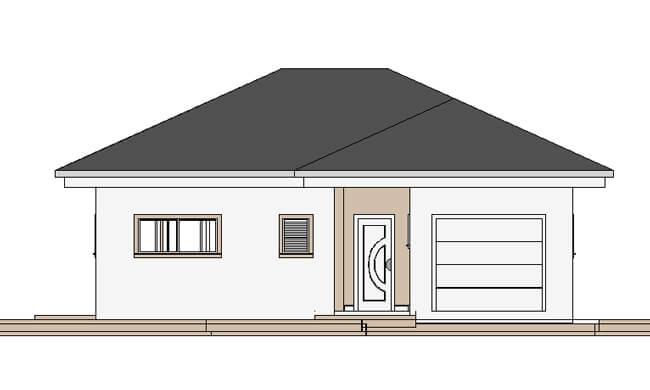 Maker montažna kuća Djina - izgled 1