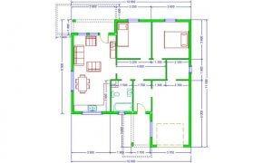 Maker montažna kuća Djina - osnova