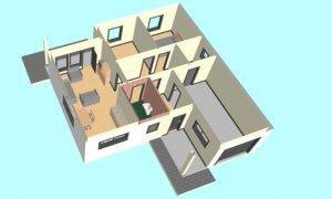 Maker montažna kuća Djina - presek