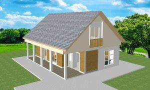 Montažne spratne kuće Maker Doris