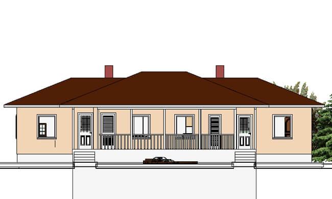 Montažne kuće Dupleks 57+57-izgled 2