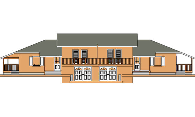 Montažne kuće Dupleks 90+90-izgled 1