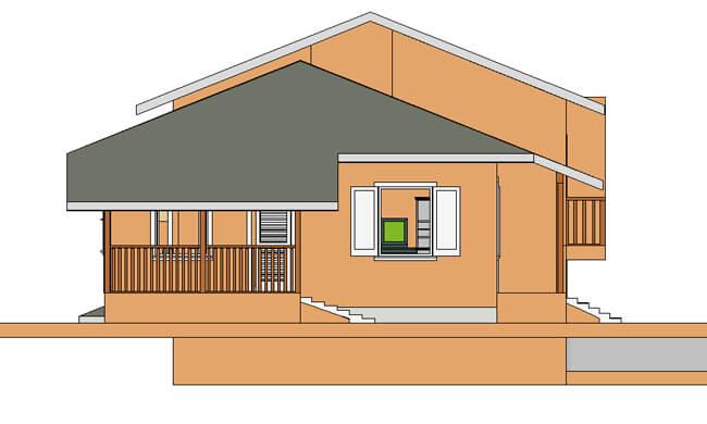Montažne kuće Dupleks 90+90-izgled 2