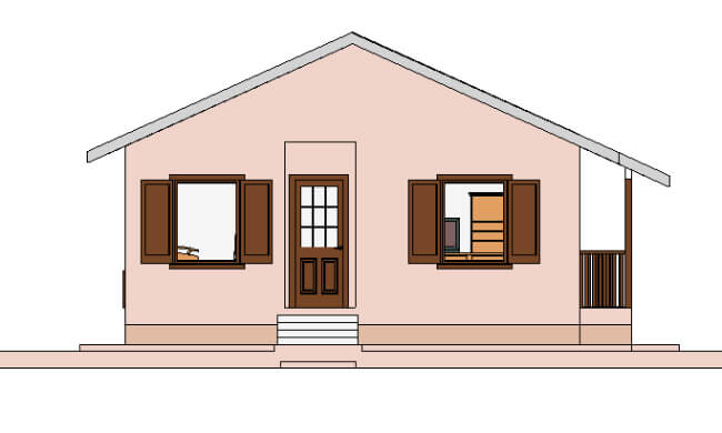 Maker montažna kuća Ema- izgled 2