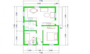 Maker montažna kuća Ema- osnova