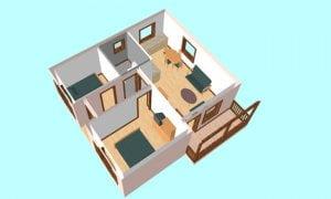 Maker montažna kuća Ema- presek