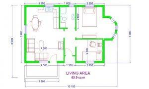 Maker montažna kuća Emili- osnova