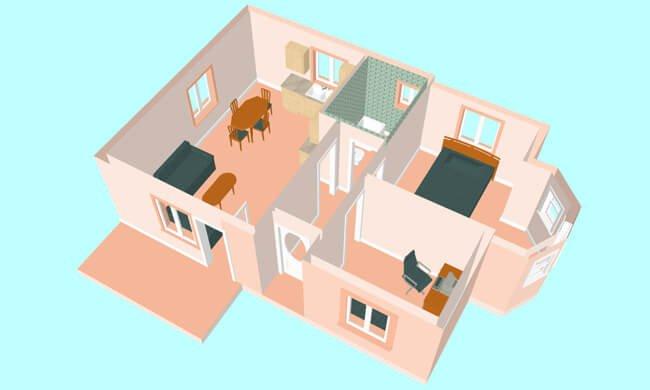 Maker montažna kuća Emili- presek