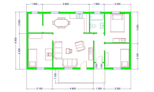 Maker montažna kuća Etida - osnova
