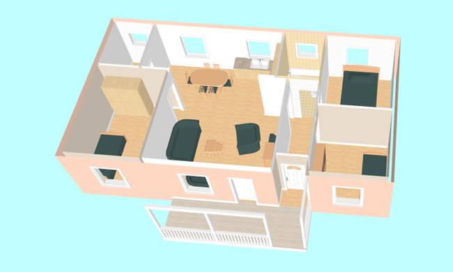Maker montažna kuća Etida - presek