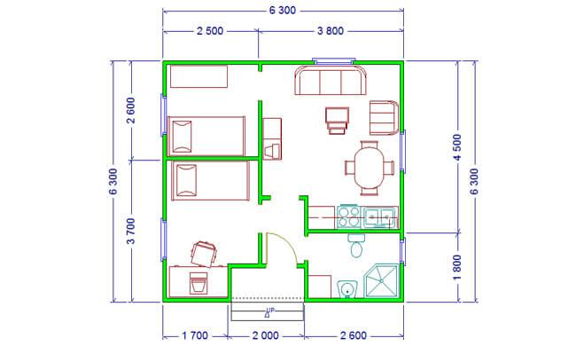 Maker montažna kuća Eva- osnova