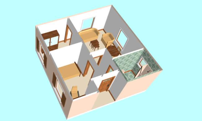 Maker montažna kuća Eva- presek
