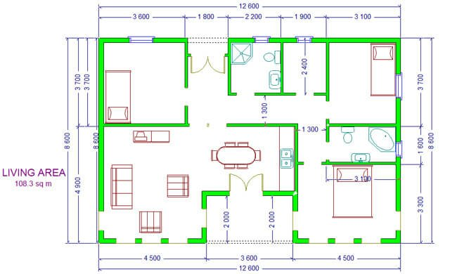 Maker montažna kuća Ferona- osnova
