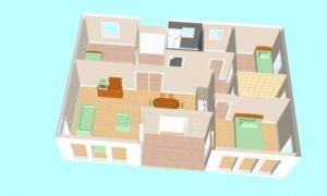 Maker montažna kuća Ferona- presek