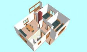 Montažna kuća Galija - presek