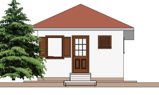 Montažna kuća Helena - izgled 2