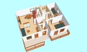 Montažna kuća Hera - presek
