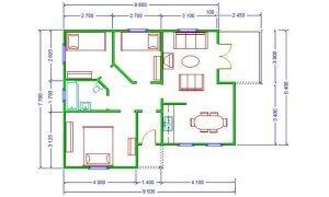 Montažna kuća Iva - osnova