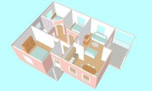 Montažna kuća Iva - presek