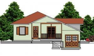Montažna kuća Ivona - izgled 1
