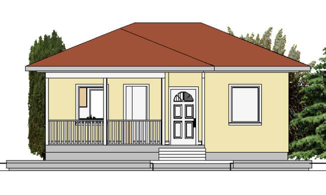 Montažna kuća Jovana - izgled 1
