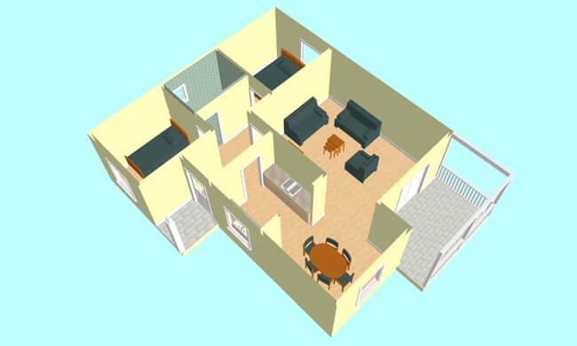 Montažna kuća Katarina - presek