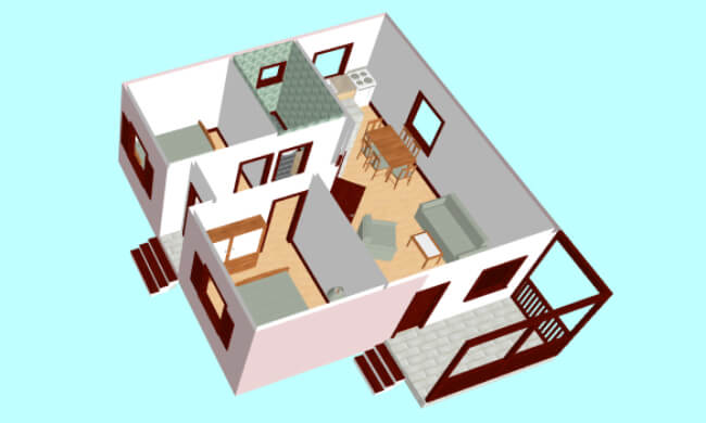Montažna kuća Klaudija - presek
