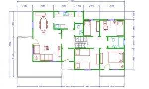 Montažna kuća Maker Lara -osnova