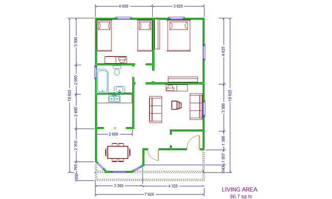Montažna kuća Maker Lela -osnova