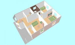 Montažna kuća Maker Lela-presek