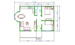 Montažna kuća Maker Lira-osnova
