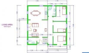 Montažna kuća Maker Lorena -osnova