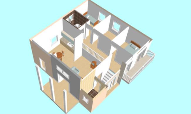 Montažna kuća Maker Lorena -presek